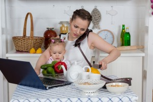 bigstock-Mother-With-Baby-In-Kitchen--46438867